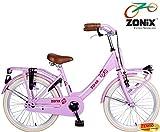 Zonix Mädchen Hollandrad Pink 20 Zoll mit Frontträger