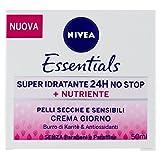 Nivea Essentials Super Idratante 24H Nutriente, Crema Giorno Viso per Pelli Secche e Sensibili, 50 ml