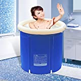 YGR Yugang yupen Aufblasbare Badewanne für Erwachsene Isolier-Baby-Schwimmbecher Badeeimer Bade-Eimer Collapsible blau (größe : L 75 * 75cm)