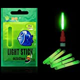 #9: EDTara Night Fishing Luminous Float Fluorescent Light Stick Rod Dark Glow Stick Fishing Tools 30M 4.5x37MM 5Pcs