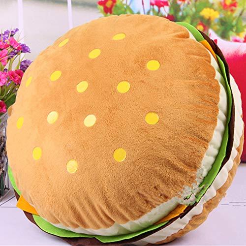 HYZ Cheeseburger Kissen, Ultra-lebendiges Plüsch-Hamburger-Überwurfkissen gefüllt Spielzeug für Kinder (Machen Sie Es Selbst Baby-halloween-kostüme)