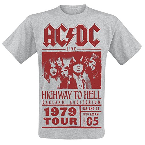 AC/DC T-Shirt Highway to Hell - Red Photo - 1979 Tour (5XL)