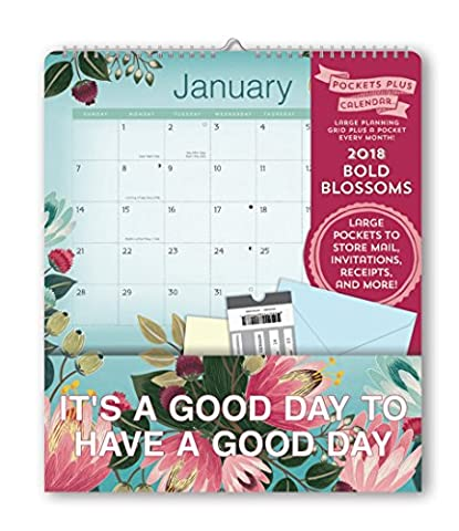 Bold Blossoms 2018 Pocket Plus Calendar