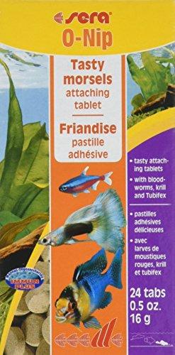sera 00420 O-Nip FD 24 Tabletten - Die Hafttablette mit Leckerbissen besonders für Schmerlen und Welse im Gesellschaftsaquarium