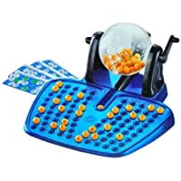 BINGO LOTTO GAME 48 CARDS 100 COVERING CHIPS 90 BINGO BALLS AND THE BINGO BALL DISPENSER (Randomly selected from 3 colour)
