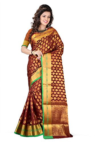 Silk Zone Women's Maroon Color Silk Saree With Blouse piece