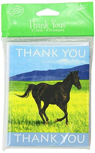 Creative Converting Wilde Pferde, 8Count Thank You Karten (Von Karten Danken Sie Einem Kind)