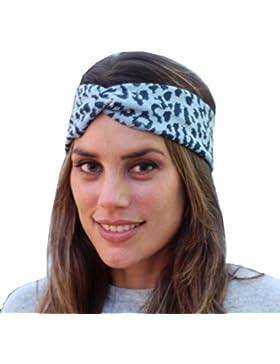 BRANDELIA Cinta Elástica de Pelo con Estampado Premium. Multiuso en Deportes, Yoga, Accesorio de moda. Cuidado...