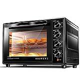 DULPLAY 30L Toasterofen,Besten Konvektion,Mini,Digitale Essen,Grillen-Rack Beinhaltet,Arbeitsplatte Ofen Schwarz Digital Poliertem Edelstahl Toast-Schwarz 51x32x33cm(20x13x13inch)