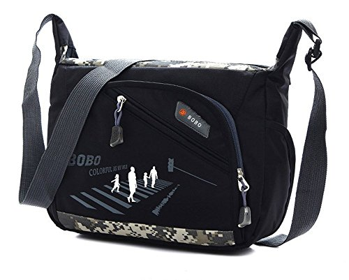 Wewod , Borsa Messenger  Donna, nero (Multicolore) - D-50 nero