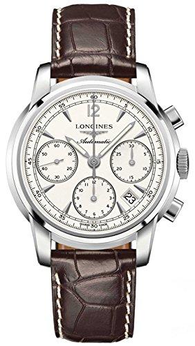 Longines Saint Imier collezione automatico cronografo colonna ruota posteriore trasparente di orologio da uomo