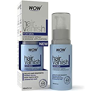 New WOW Hair Vanish For Men - Best Hair Retardant - 100ml / 3.4oz - New Improved Formula - Pack of 1