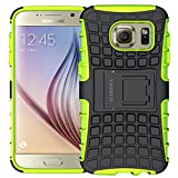 Samsung Galaxy S6 Case, Heavy Duty Rugged Armor Hybrid Shockproof Protective Phone Case