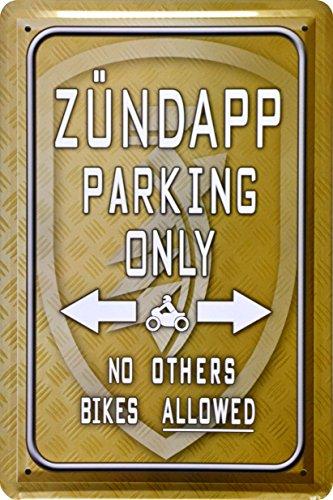 Juguete decorativa, Zündapp Parking Only juguete 20x 30cm Chapa Metal Sign xps22do