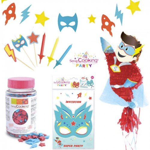 Superheld Geburtstag Box mit (Superhelden Pinatas)