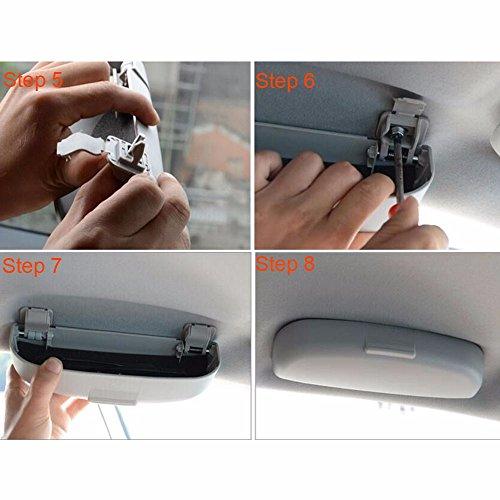 Pynxn - Sonnenbrille-Glas-Aufbewahrungsbeh?Lter-Kasten-Halter-Sitz f¨¹r Mitsubishi ASX Outlander Lancer-Ex Sport 2013-2014 Car Styling