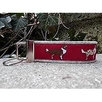 Schlüsselanhänger Taschenbaumler Mitbringsel hellgrau Australian Shepherd rot braun weiß Geschenk!