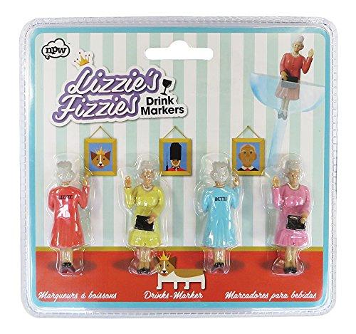 Queen Glasmarkierer im 4er Set