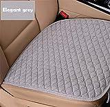 Housse de siège auto en lin quatre saisons avant et après coussins en lin tapis de...