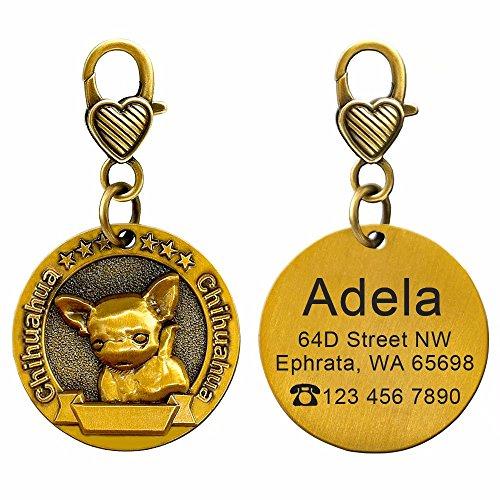 Didog Etiquetas de Identificación para Perros Personalizadas con 18 Razas Efecto 3D, Etiquetas de Memoria Personalizadas para Perros Pequeños, medianos y Grandes