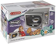 A replica of Delonghi's stylish 'infinito' Intelligent Microwave Combination Oven, this realistic toy is battery-operated with a rotating turntable, multiple cooking sounds and flashing LEDs. The item is supplied with a selection of imitation...