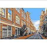 KDGJG Calles De Amsterdam Pintura Al Óleo Hecha A Mano por Números Europa Paisaje Pintura Acrílica Pintura De La Pared Digitales