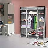 EBS® Kleiderschrank Faltschrank Stoffschrank Schrank Garderobe Regal