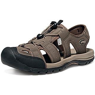 AT-M108-CBN_Men 10 D(M) Atika Men's Sports Sandals Trail Outdoor Water Shoes 3Layer Toecap M108