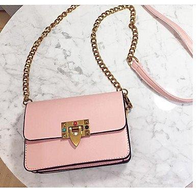 SUNNY KEY-Borsa a tracolla @ Donna Borsa a tracolla PU (Poliuretano) Per tutte le stagioni Casual Cerniera Nero Rosa Grigio , gray blushing pink