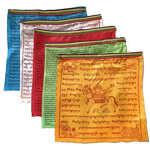 Feng shui bandiere di preghiera buddista tibetano 10scripture satin religiosa wind horse bandiera, tessuto, small 10 verses design