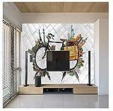 Papel tapiz, mural, material impermeable, papel tapiz, edificio de fama mundial, fondo de sofá de sala 3d mural