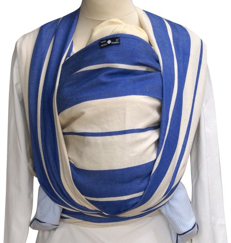 Didymos Baby Wrap Sling (Size 5, Standard Blue) Didymos Various carrying positions, in front, sideways an on the back Special, diagonally stretchable cloth to give optimal support Holds your baby in the atomically correct posture 2