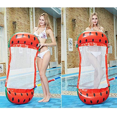 Destinely Wasserhängematte Faltbarer Aufblasbare Luftmatratze Pool Lounge Mit Netzwerk Tragbarer Pool Schwimmer Für Einsatz Auf See-, See-, Fluss- Oder Poolpartys 200 Kg Tragfähigkeit