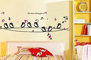 ufengke® Beaux Oiseaux Chanter Stickers Muraux, la Chambre des Enfants Pépinière Autocollants Amovibles