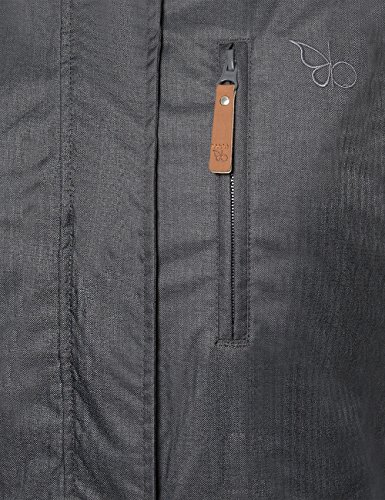 Berydale Damen Parka Jacke wasser- und winddicht, Gr. 34 (Herstellergröße: XS), Schwarz (Schwarz/Grau) - 4