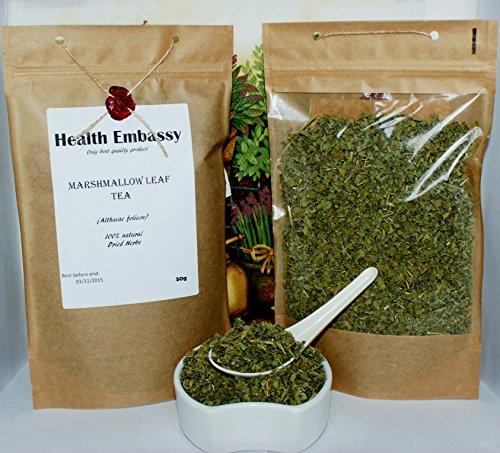 Marshmallow Blatt (Echter Eibisch Blätter 50g (Althaeae Folium - Althaea officinalis L.) / Marshmallow Leaf Tea 50g - Health Embassy - 100% Natural)