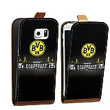 DeinDesign Tasche Hülle Flip Case kompatibel mit Samsung Galaxy S6 Edge Borussia Dortmund BVB Stadion