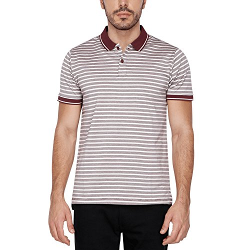 Stop Mens Striped Polo Neck T-shirt  available at amazon for Rs.299
