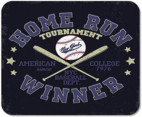rutschfeste Mousepad Mauspad Computer Office Baseball Stamp Grafiken New York Sport Athletic Tee Usa Heimschule Game Player Computer Worker,25X30 cm