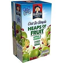 Avena Quaker tan simple de Apple y de la cereza Gachas de 8 x 36,1 g