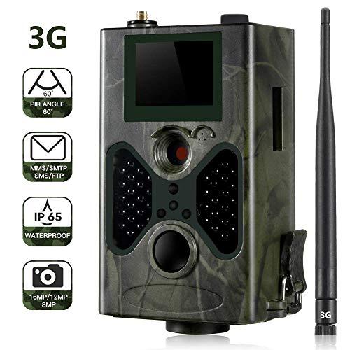 SUNTEKCAM 3G/2G Wildkamera 16MP 1080P mit Infrarot-Nachtsicht bis zu 65 Fuß/20 m IP65 Spray Wasserdicht für Outdoor-Natur, Garten, Haussicherheitsüberwachung HC-330G