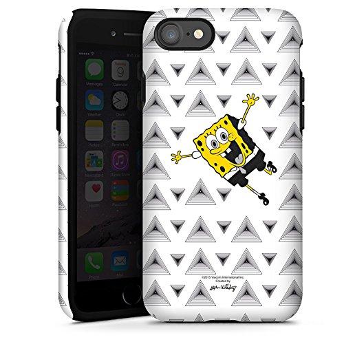 Apple iPhone X Silikon Hülle Case Schutzhülle Spongebob Fanartikel Merchandise Triangle Mono Tough Case glänzend