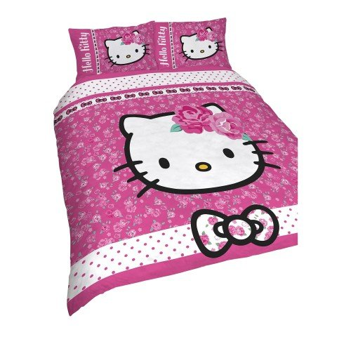 Hello Kitty - Juego de Fundas nórdico/edredón reversible Modelo Sommerwind para niñas...