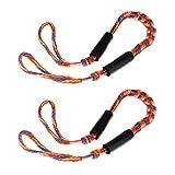 MagiDeal 2 Piezas 3.5 M Bungee Cable Cuerda Elástica Ancla Fijación Acoplamiento Rápido Control Deslizante - Azul Anaranjado, 108cm