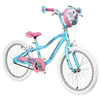 "Schwinn Mist 20"" Wheel Girls Bike, Blue and Pink with Kids Flower Design (Age 5 to 8 years)"