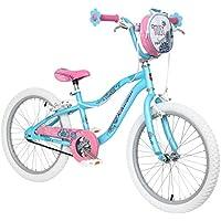 """Schwinn Mist 20"""" Wheel Girls Bike, Blue and Pink with Kids Flower Design (Age 5 to 8 years)"""