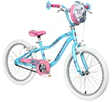"Schwinn Mist 20"" Wheel Girls Bike, Blue and Pink with Kids Flower Design"