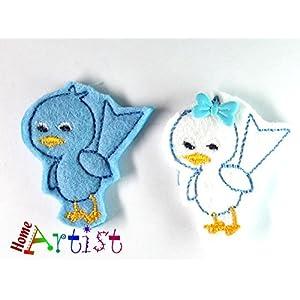 Vogel Haarspange für Kleinkinder - freie Farbwahl