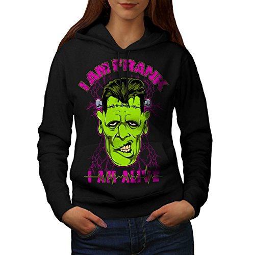 Am Leben Frank Tot Zombie Frankenstein Women M Kapuzenpullover | (Frankenstein Kostüme Lady)