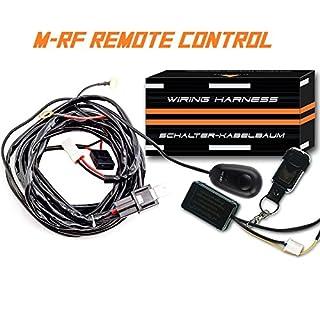 AFTERPARTZ fernbedienter Schalter Kabelbaum für LED Arbeitsscheinwerfer (1 Stück Lampe), R1 3,5M, F1 Fernbedienung